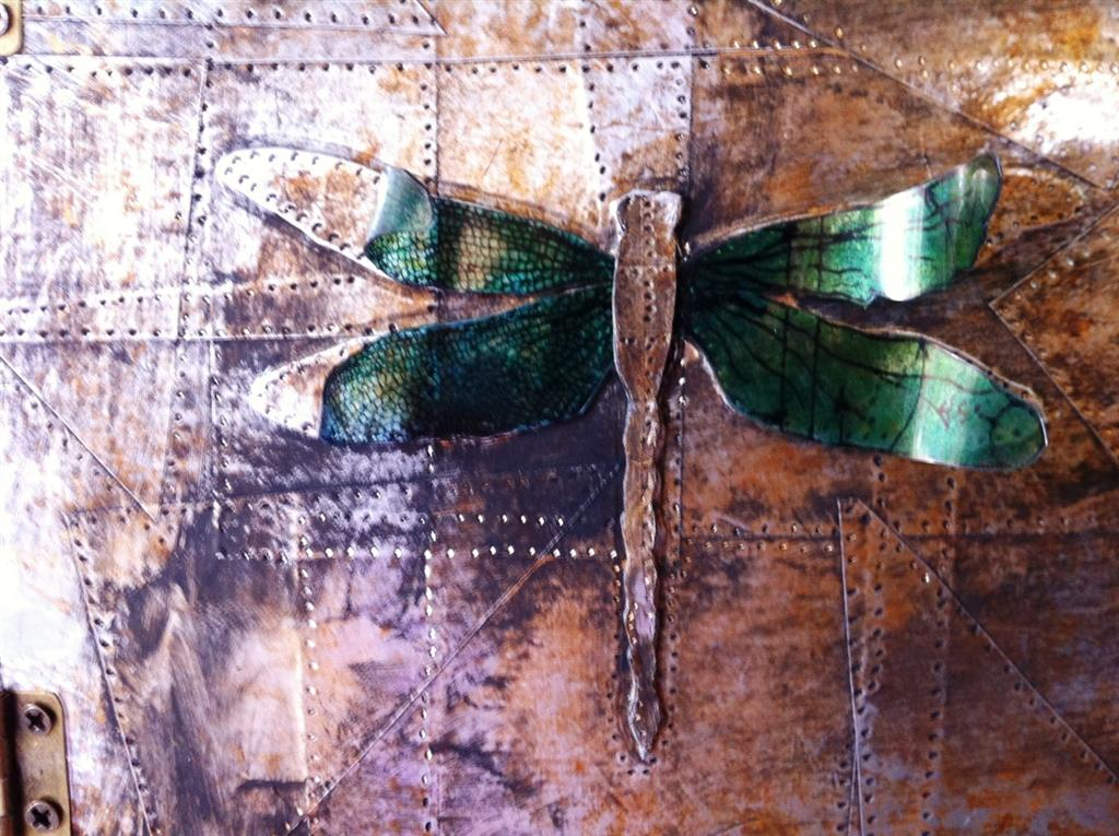 View Crafts' Projects: Tim Holtz Dragonfly Wall Art  By Gabrielle
